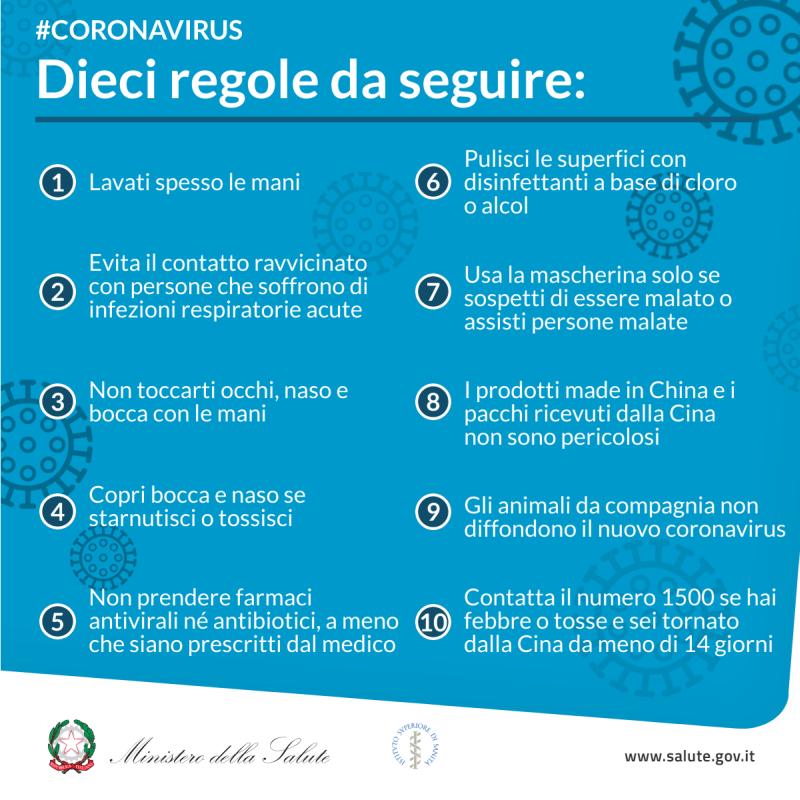 Comune di Argenta - Disposizioni e informazioni utili per il contenimento  del Coronavirus
