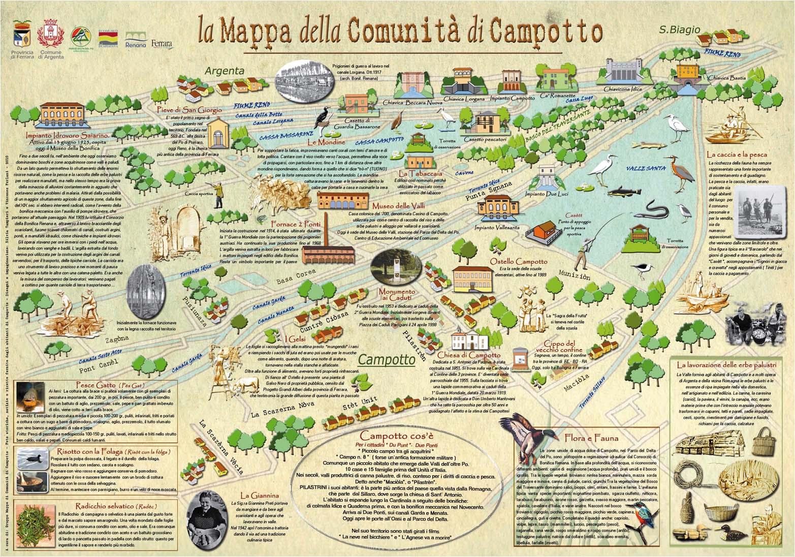 mappa di comunita - Campotto
